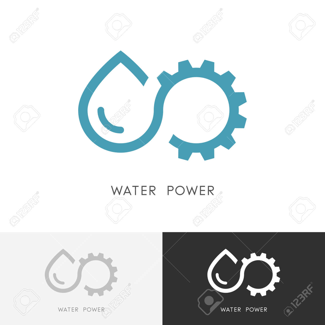 Water Power Drop Of Water Gear Wheel Or Pinion And Infinity