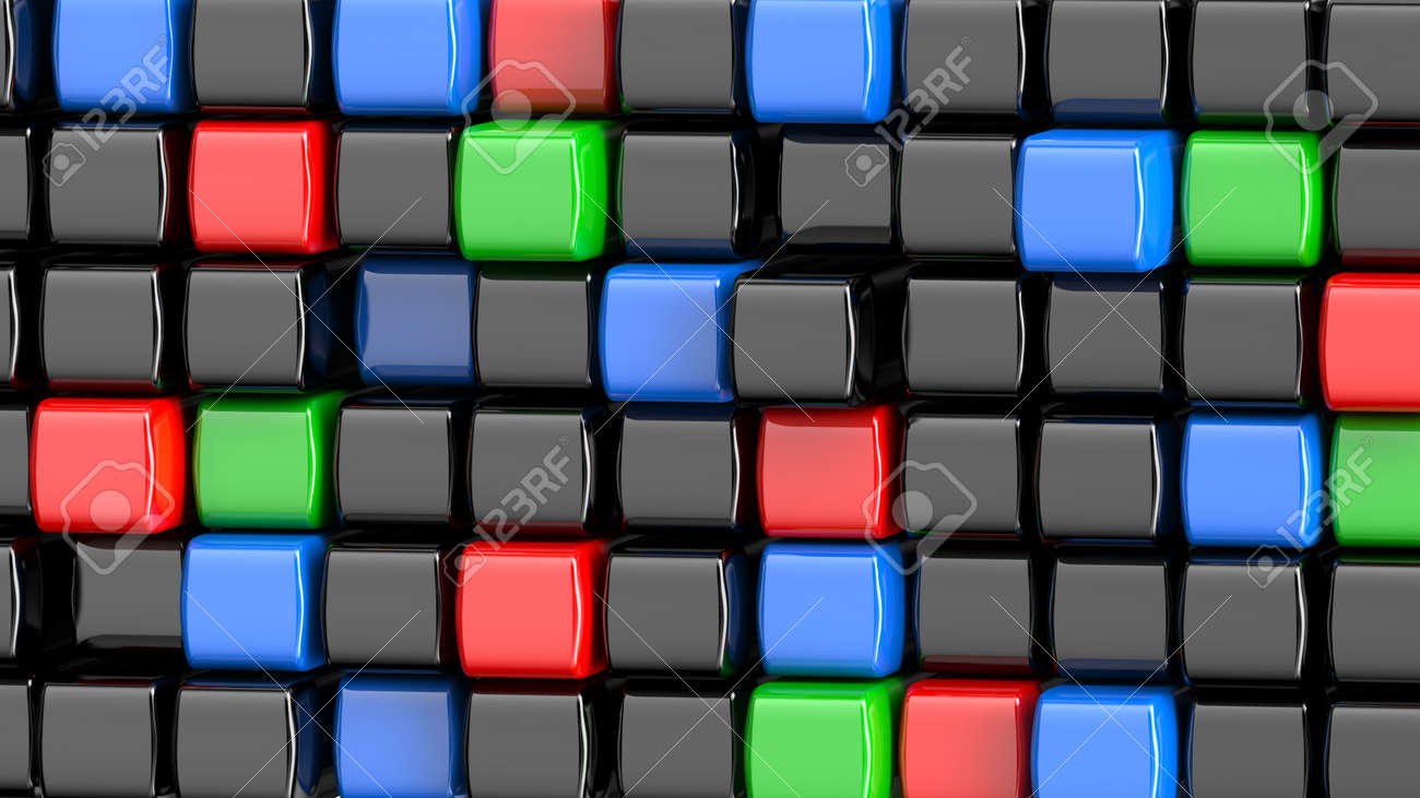 Abstract Colored Cubes Wallpaper 8K Background Stock Photo ...