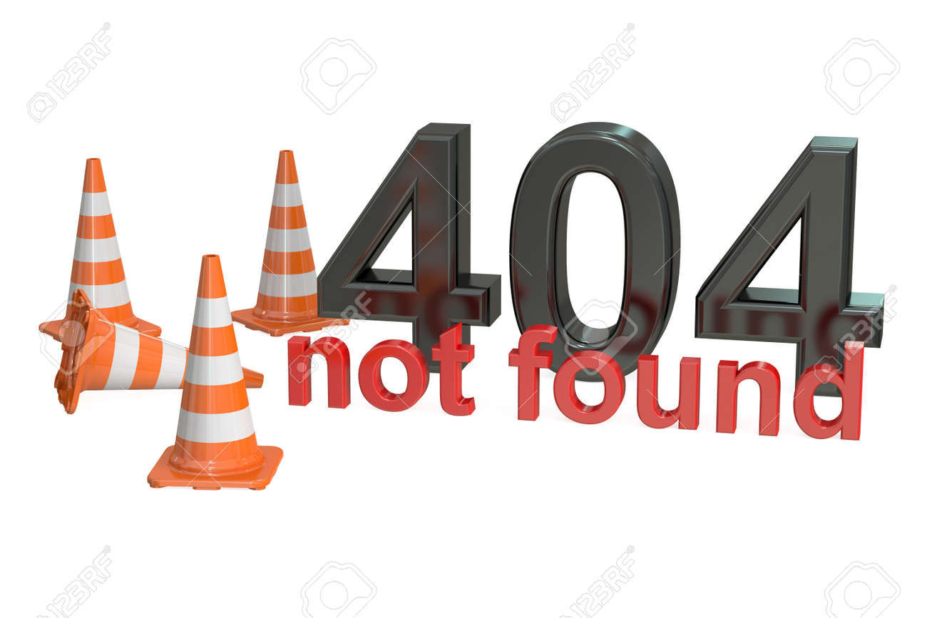 404 Not Found Notion Isole Sur Fond Blanc Banque D Images Et Photos