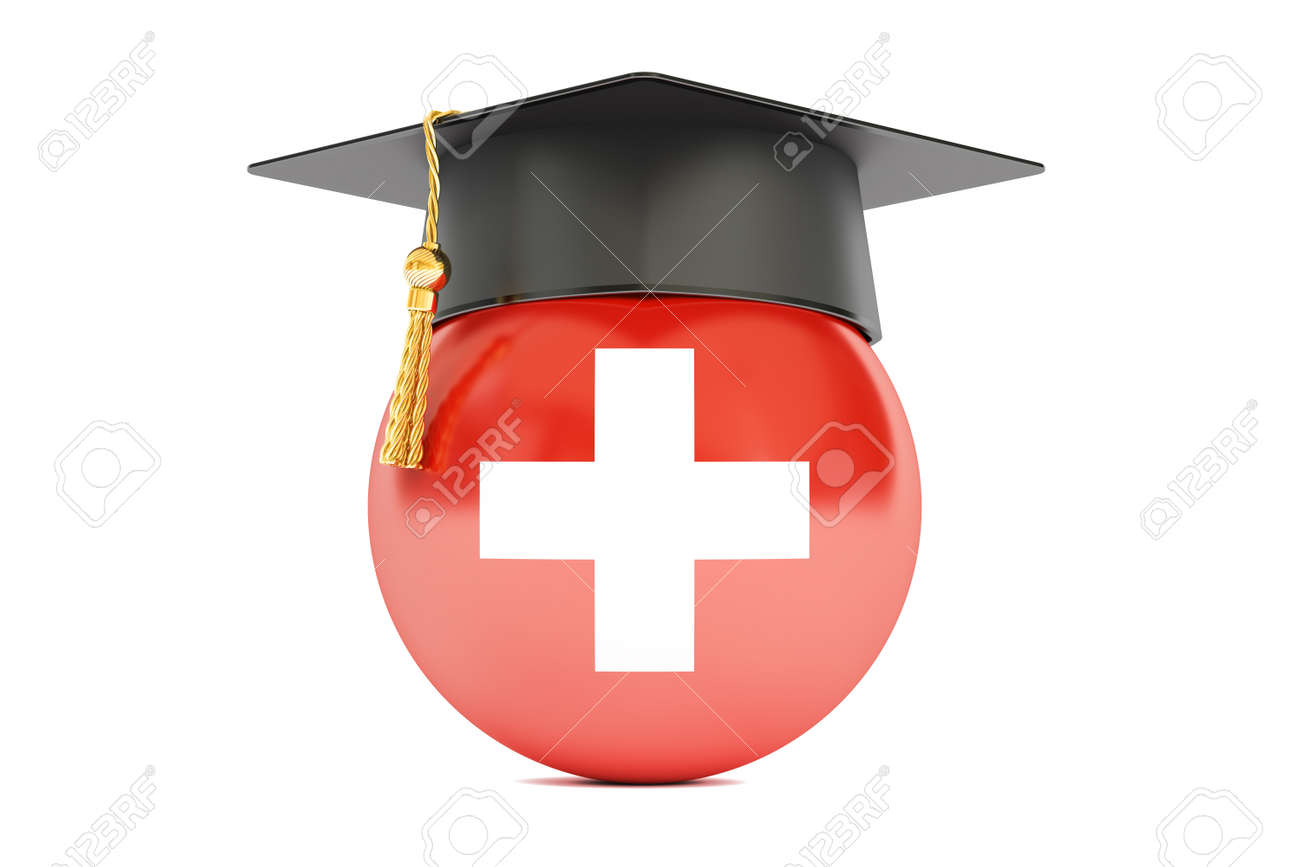 education and study in Switzerland concept, 3D rendering isolated on white background - 61322986