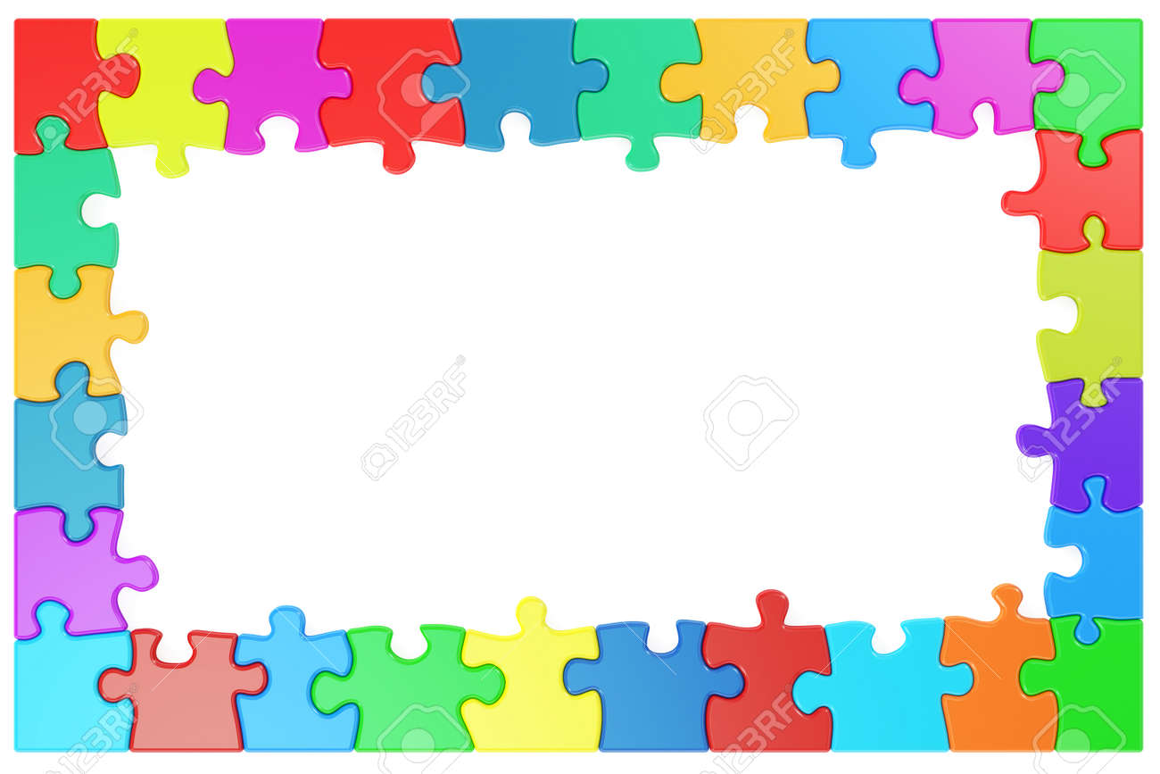 Frame from colored puzzle pieces 3d rendering stock photo frame from colored puzzle pieces 3d rendering stock photo 62987085 jeuxipadfo Images