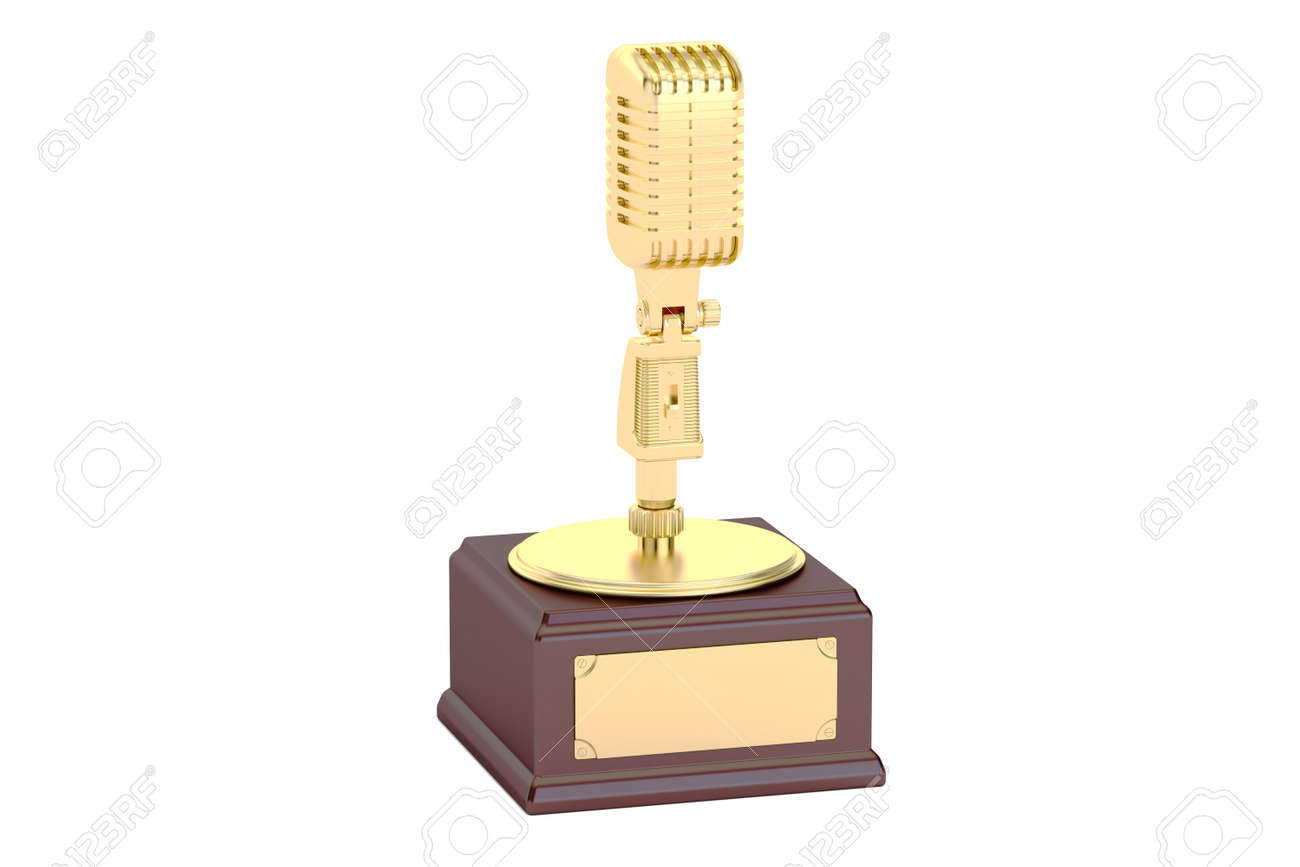 Golden Music Award 3d Rendering Isolated On White Background Stock Photo Picture And Royalty Free Image Image 64073591
