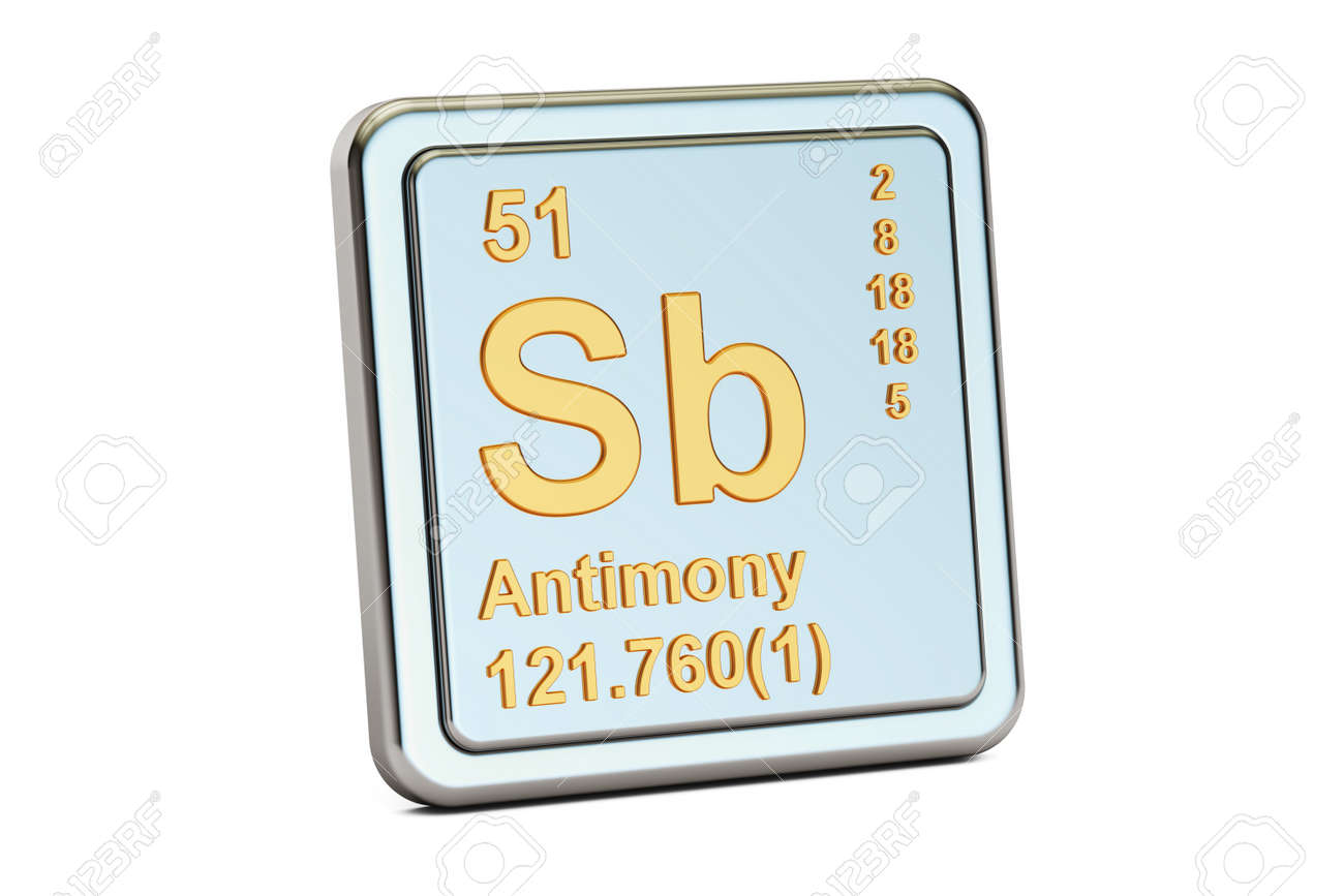 Antimony sb stibium chemical element sign 3d rendering isolated antimony sb stibium chemical element sign 3d rendering isolated on white background stock photo biocorpaavc Images