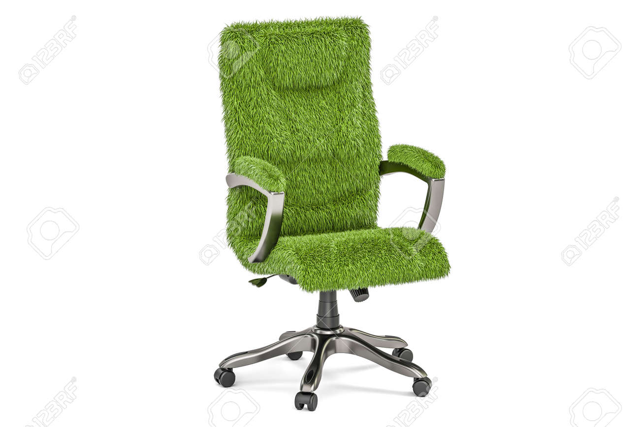 eco office chair. Eco Office Chair Concept, 3D Rendering Isolated On White Background Stock Photo - 81694785 S
