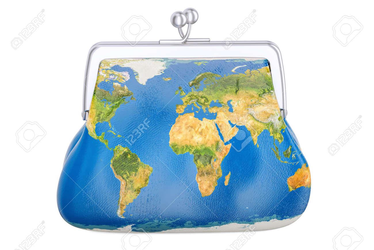 À Isolé Carte Sac 3d Fond Avec Sur Blanc TerreConcept Commercial GlobalRendu De La Main kX8wn0OP