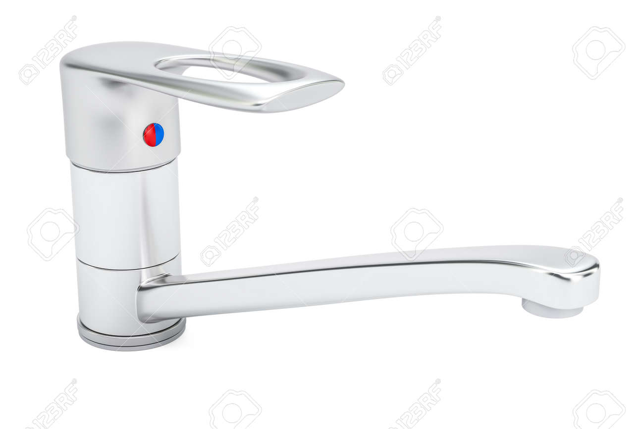 Water Mixer Tap Or Faucet For Bathroom Or Kitchen 3d Rendering