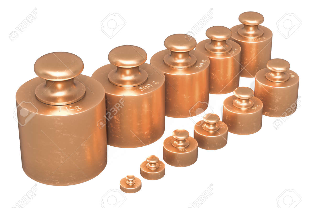 Scale Calibration Weights >> Scale Calibration Weights From Brass 3d Rendering Isolated On