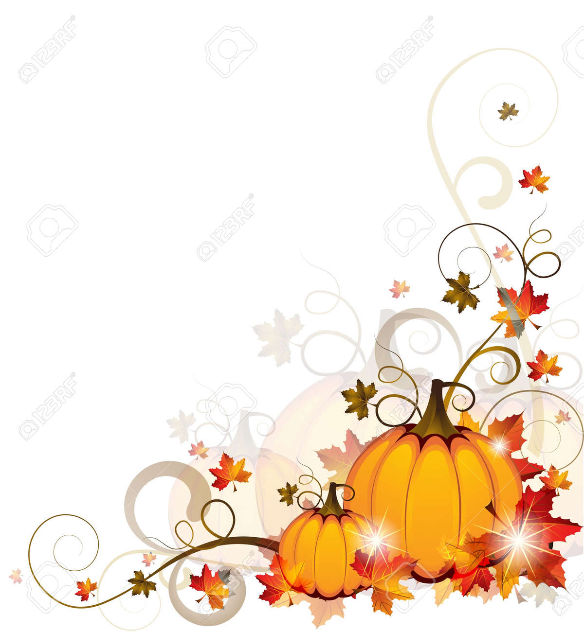 Background with Pumpkins Stock Vector - 15123739