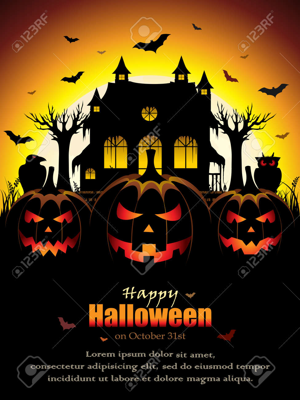 spooky halloween design stock vector 44707222 - Halloween Design