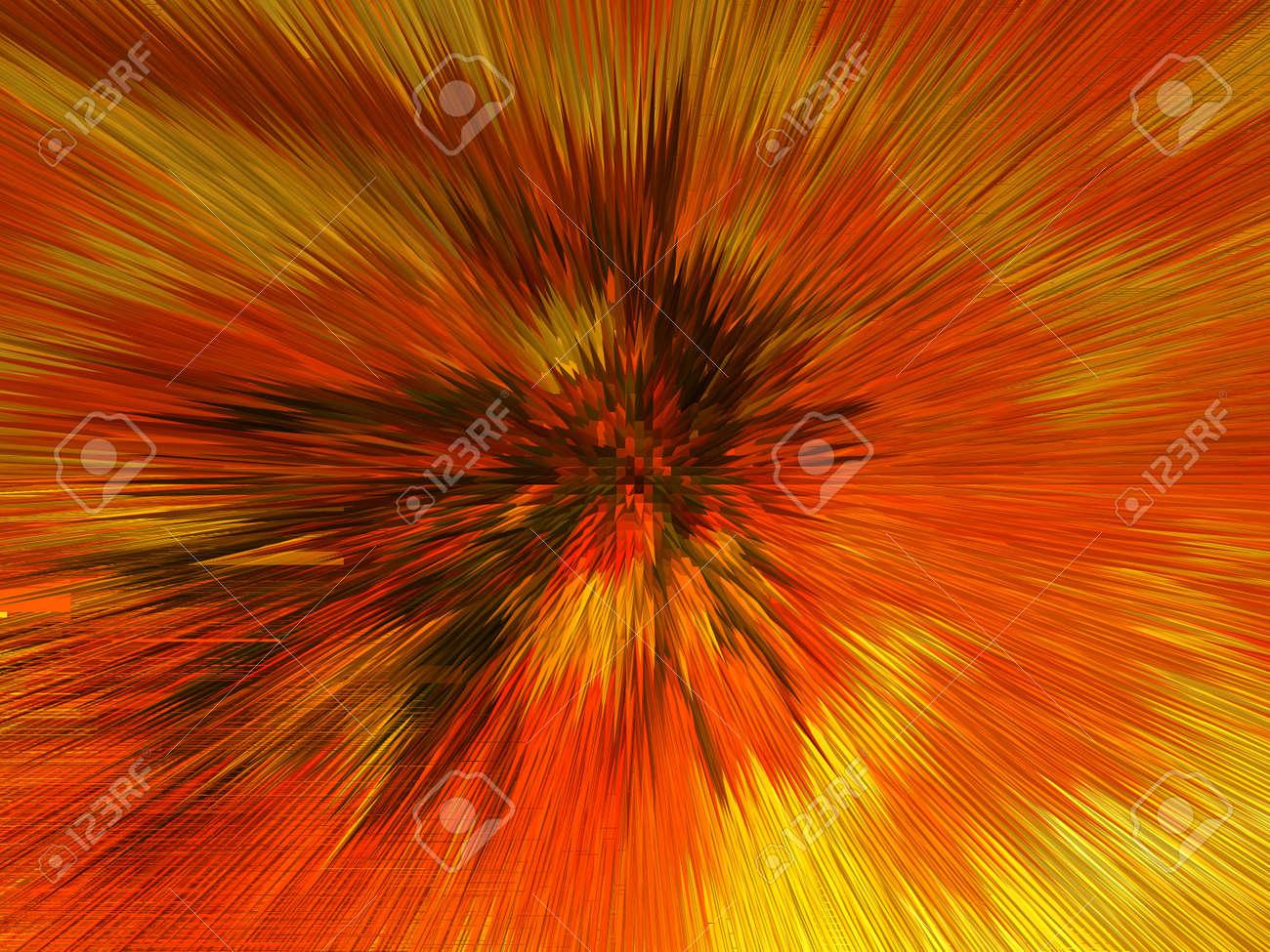 Orange and yellow explosion Stock Photo - 12854128