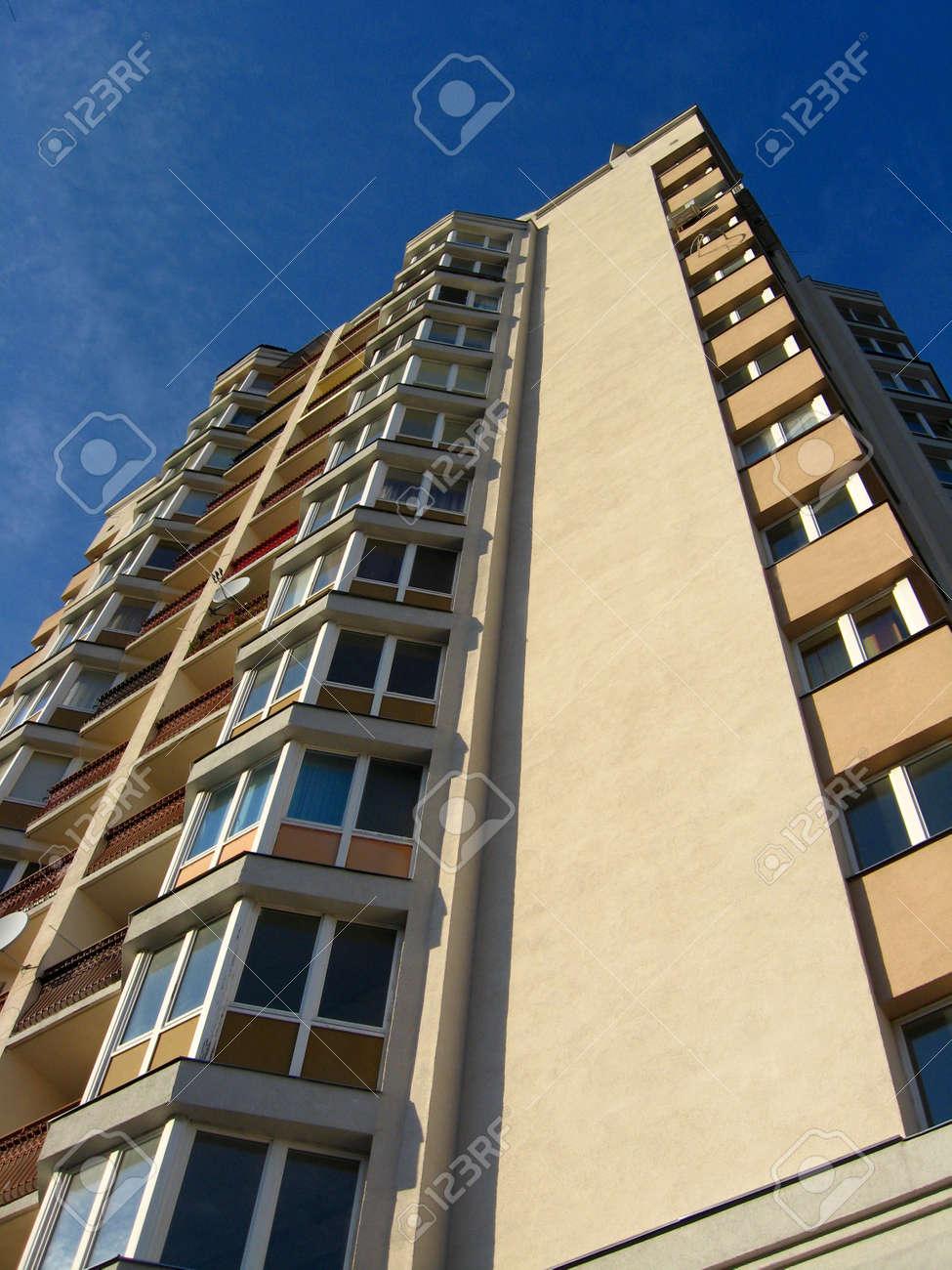 The multi-storey modern house on the blue sky background Stock Photo - 16981236