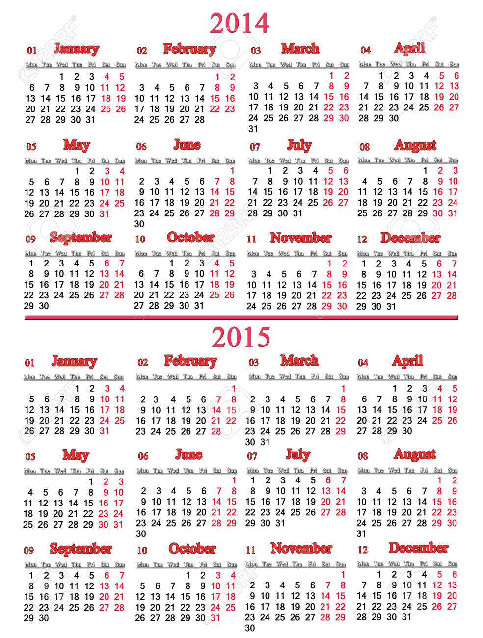 2014 Office Calendar Usual Office Calendar For 2014
