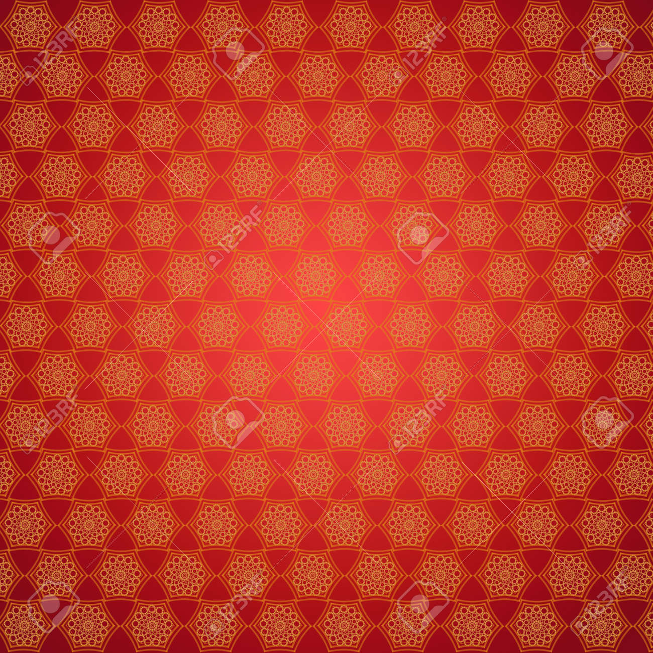Wallpapers With Many Round Abstract Golden Patterns Stock Photo