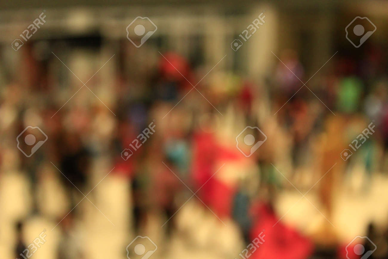 very indistinct image of croud of people stock photo picture and