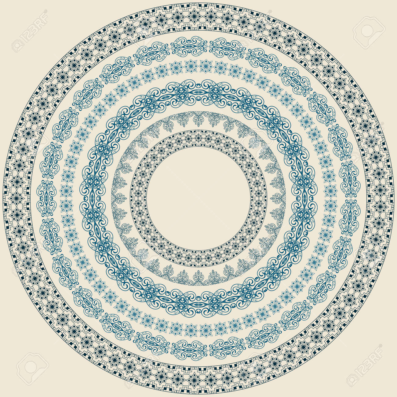 Vintage circle pattern, brushes included Stock Vector - 11496868