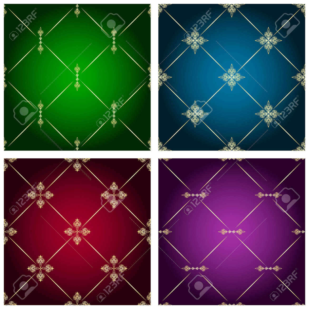vintage seamless patterns Stock Vector - 11557966