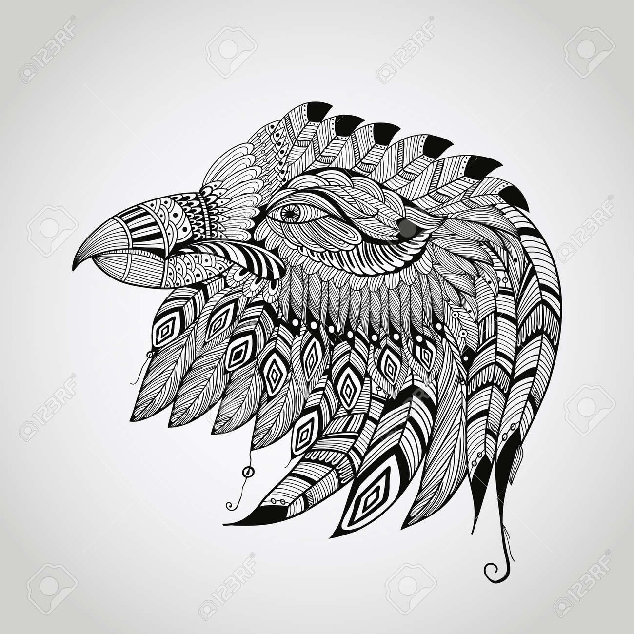 Native american eagle symbol tattoo images for tatouage native american eagle symbol tattoo with regard to vector tattoo black hand drawn highly detailed biocorpaavc Gallery