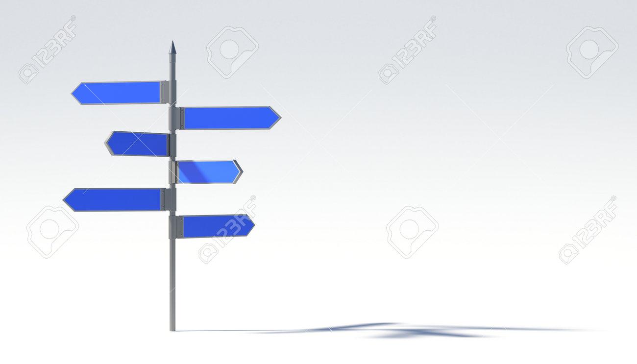 Metal pillar with signposts directions - 41297512