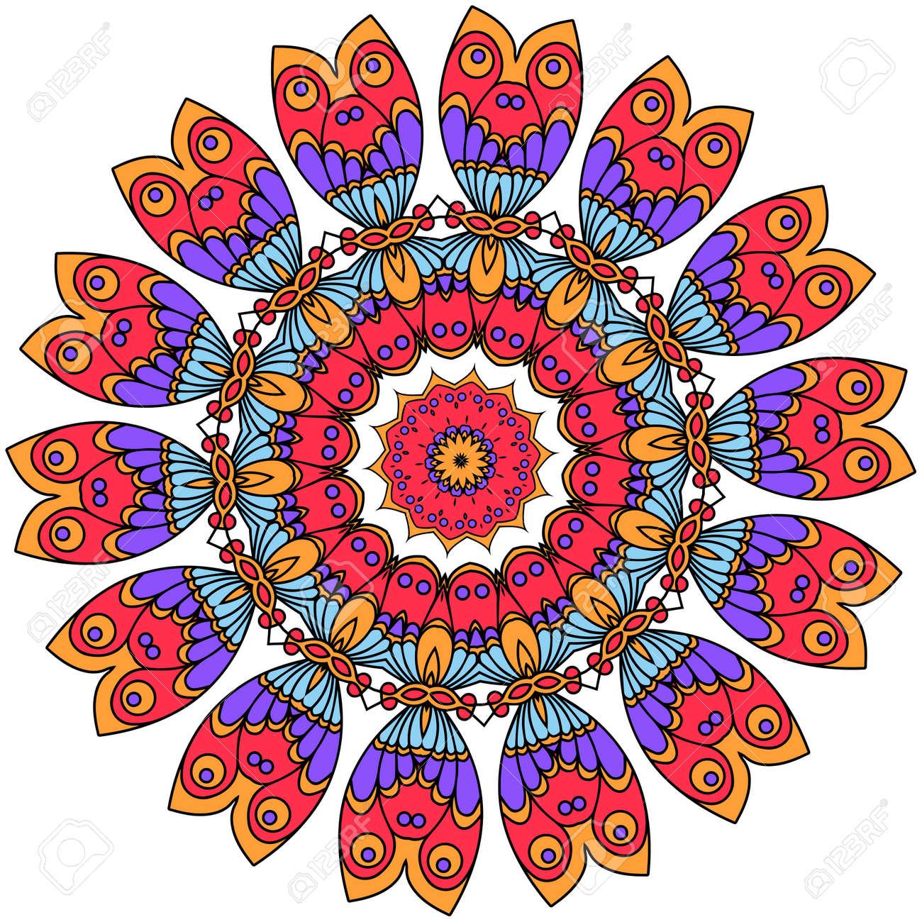 Mandalas. Vintage decorative elements. Oriental pattern illustration - 56426865