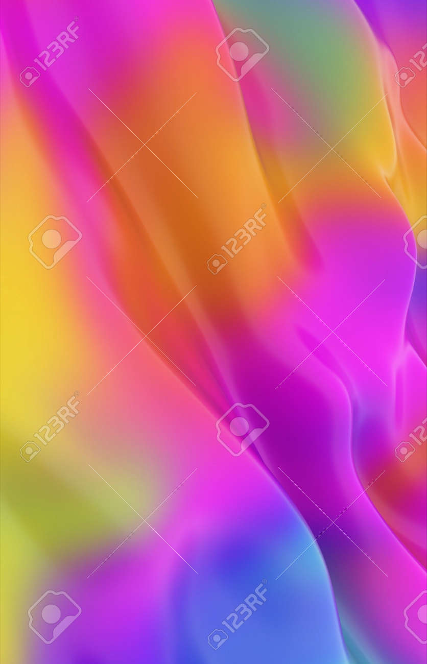 Abstract colored background imitating liquid paint. 3d rendering - 169048877