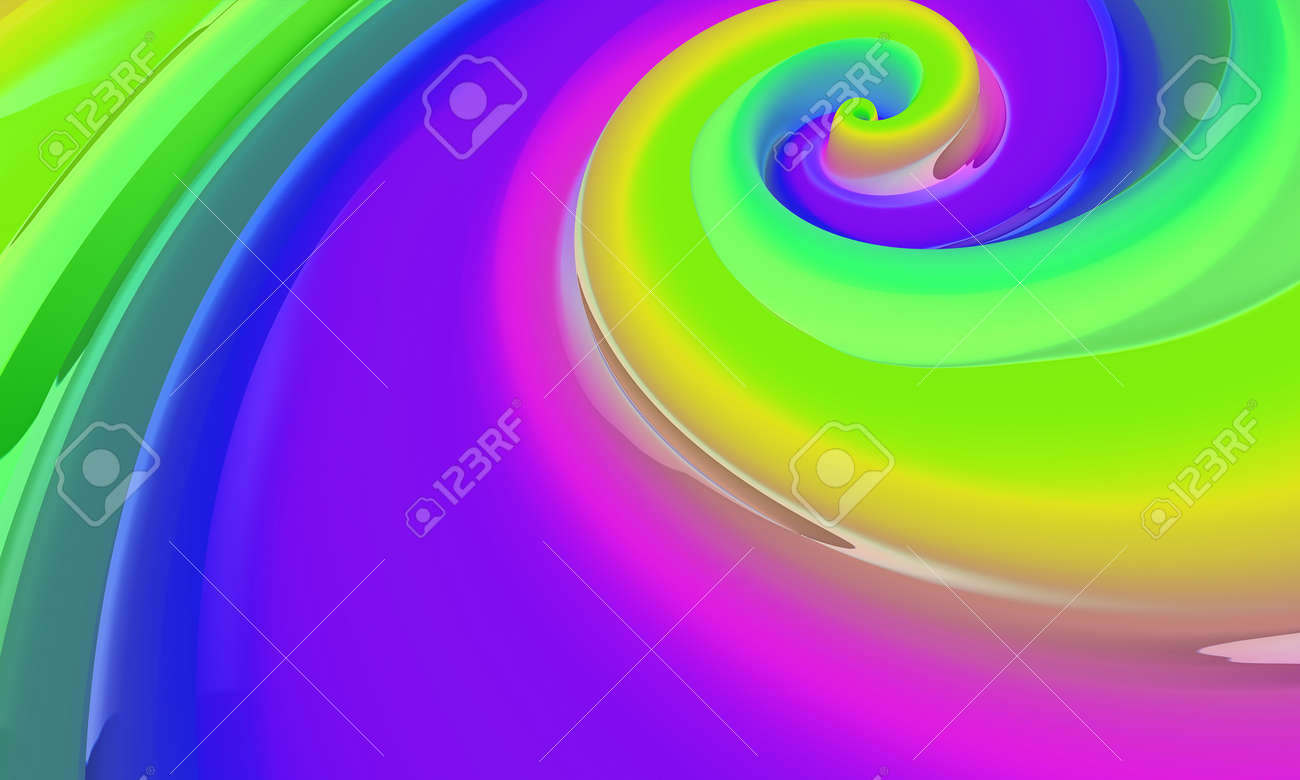 Abstract colored background similar to caramel. Liquid caramel. 3d rendering - 169048909