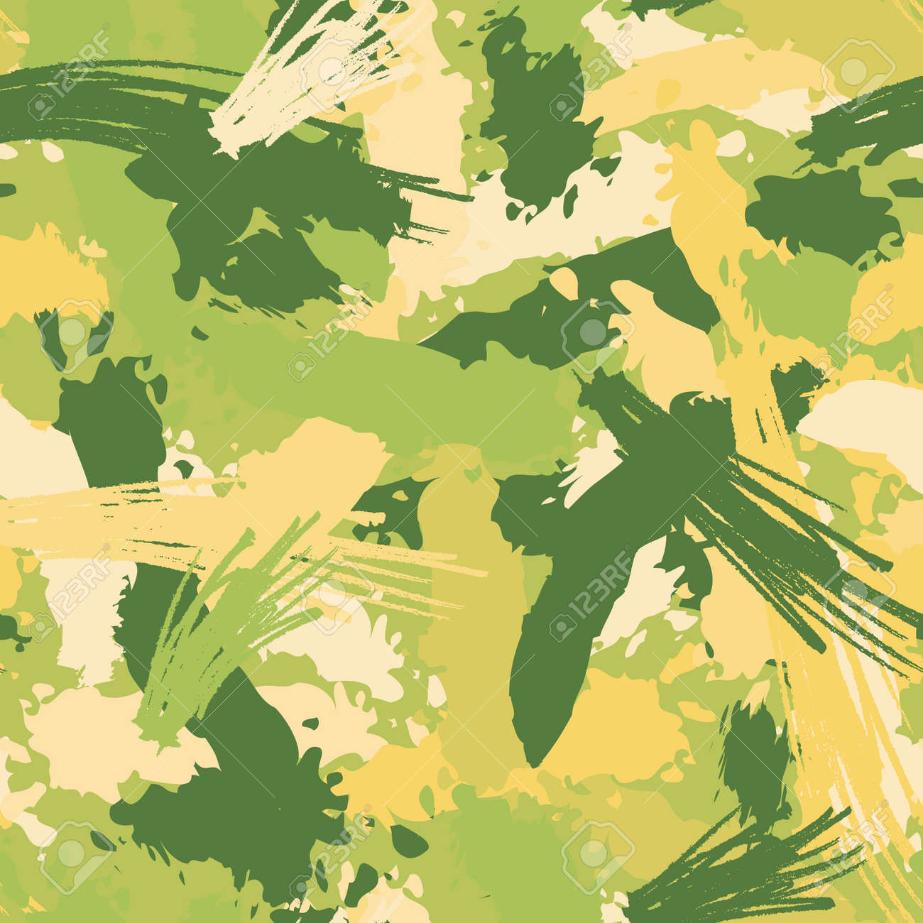 Seamless repeating pattern of multicolored paint strokes - 169048956