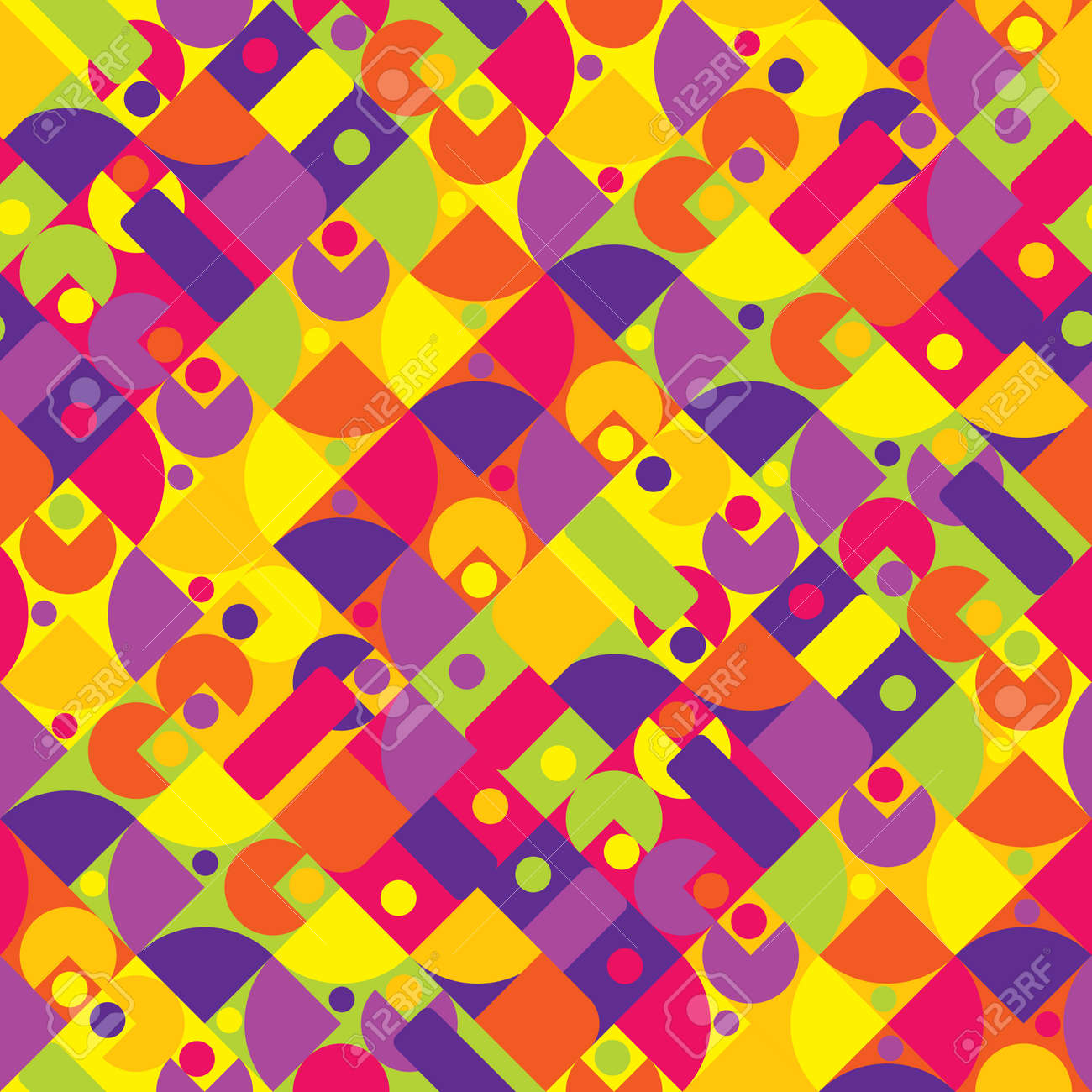 Abstract seamless repeating geometric pattern - 169048974