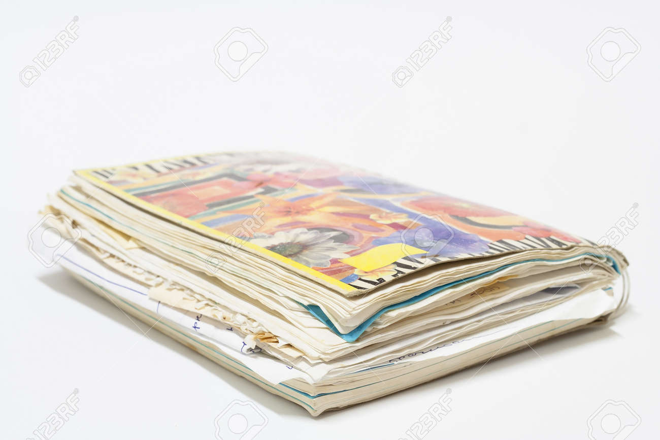 old spiral notebook with records. Stock Photo - 16730050