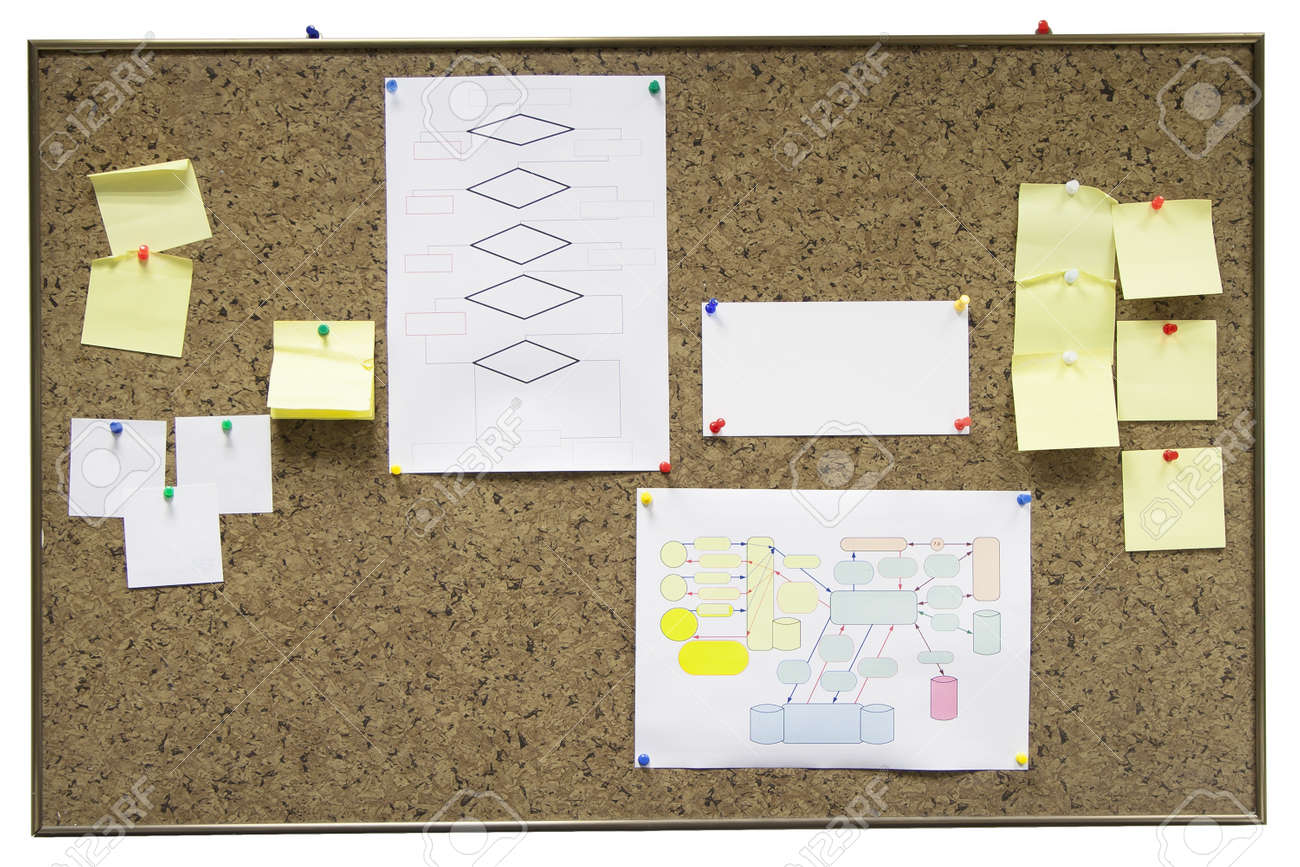 bulletin board with paper notes Stock Photo - 17170520