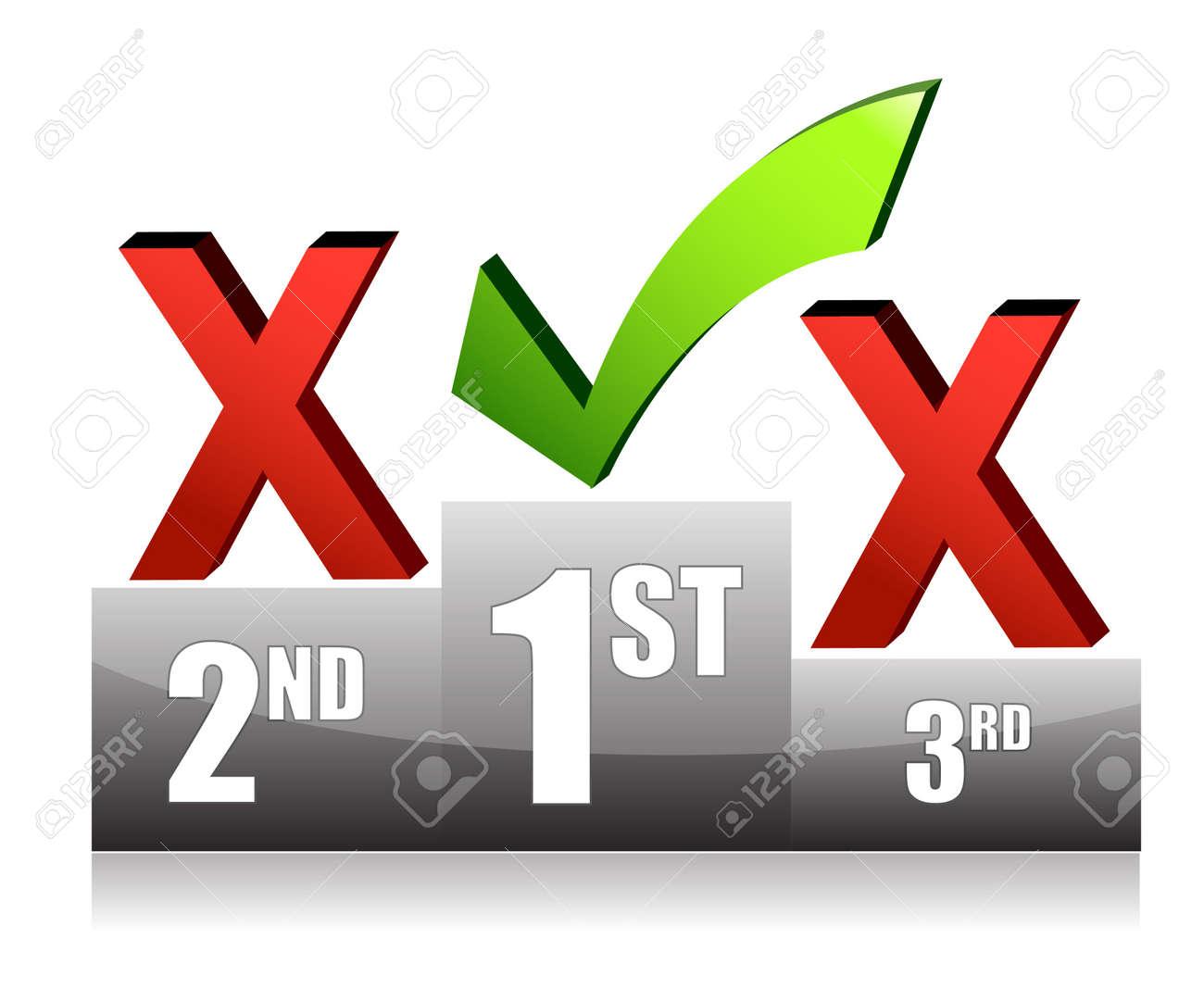 Success concept podium check mark illustration design Stock Vector - 11226211