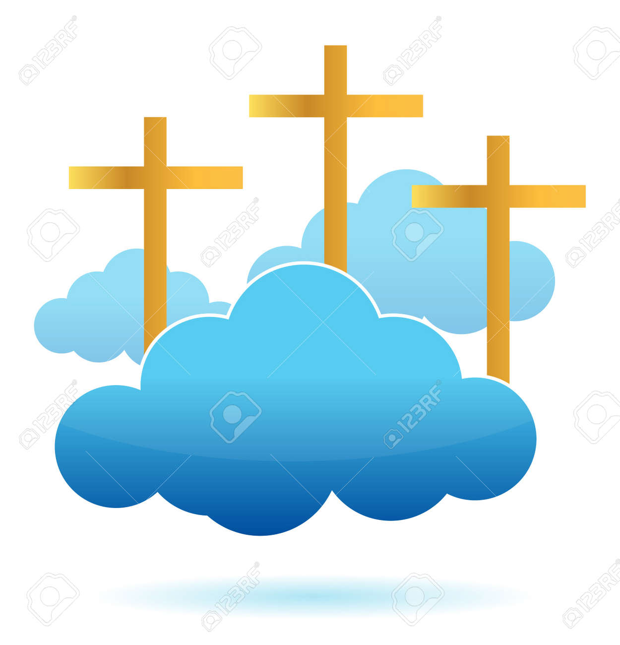 clouds and crosses illustration design on a white background Stock Vector - 11356780