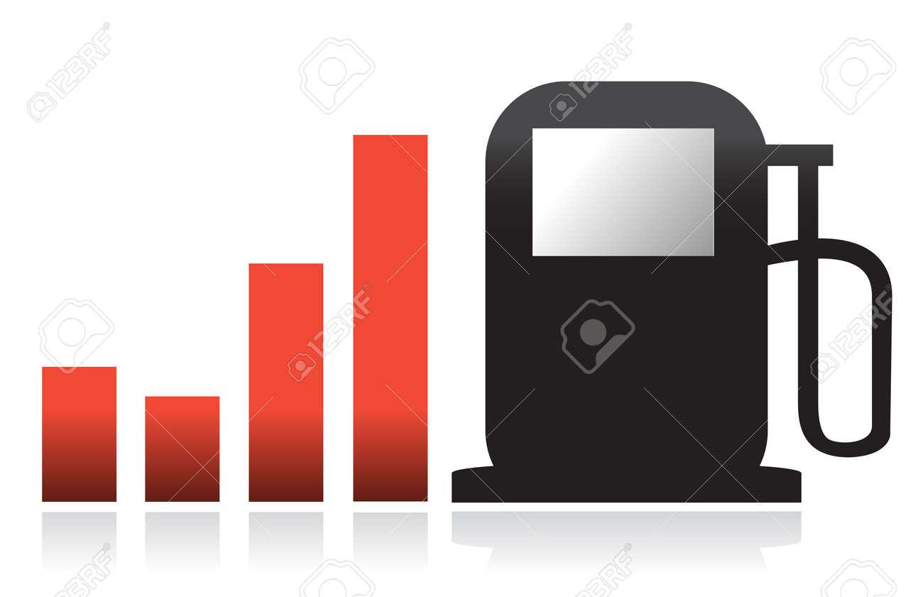 gas bar illustration graph design over white Stock Vector - 11621336