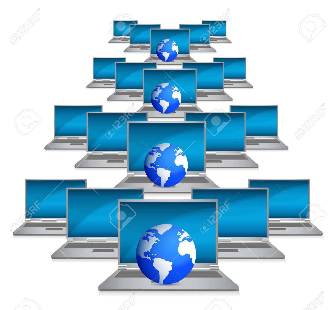 Global network the Internet illustration design on white Stock Vector - 11806475