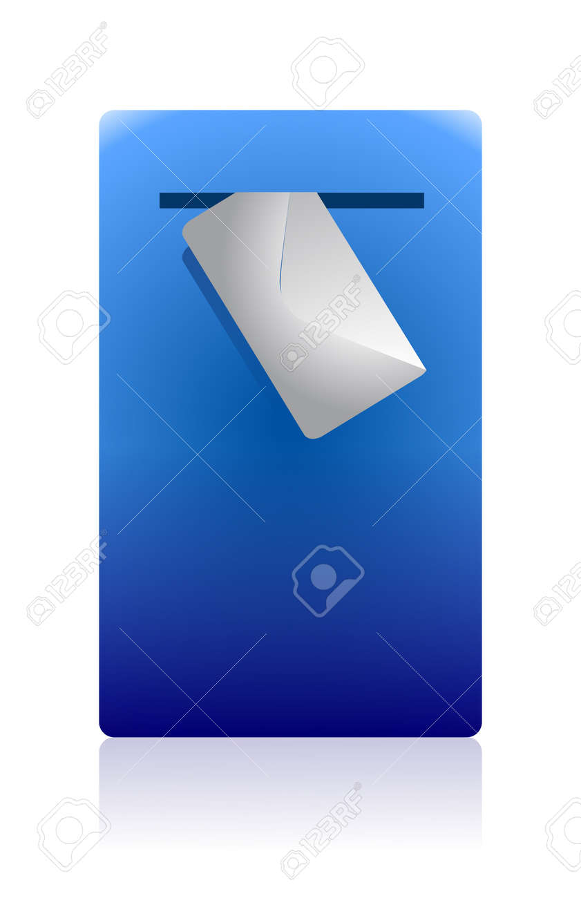 mail box and envelope illustration design on white Stock Vector - 11806488