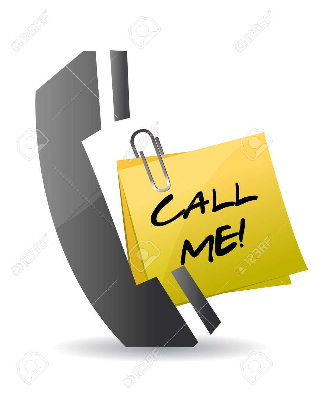 call me concept illustration design on white Stock Vector - 11881198