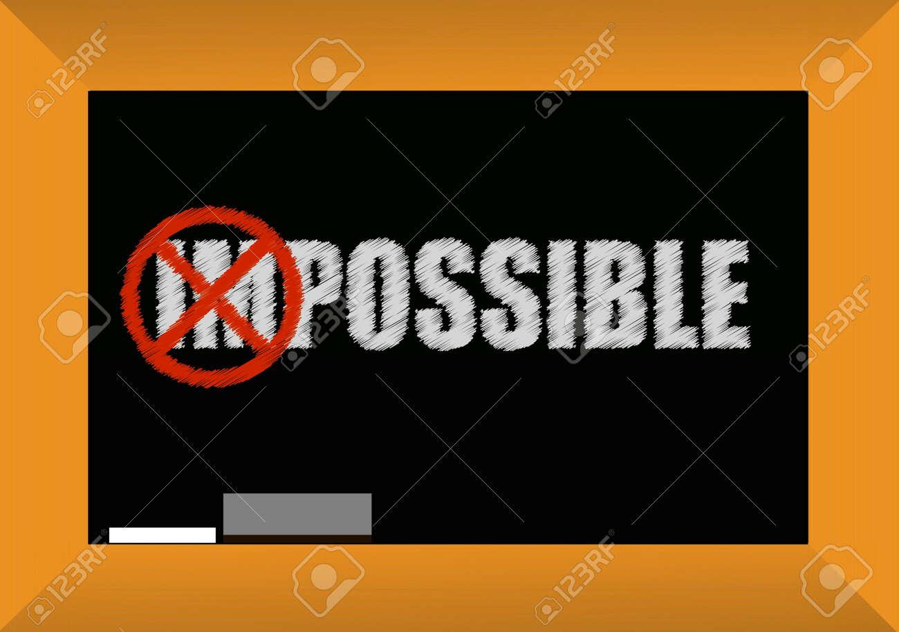 impossible or possible concept blackboard design illustration Stock Vector - 11977055