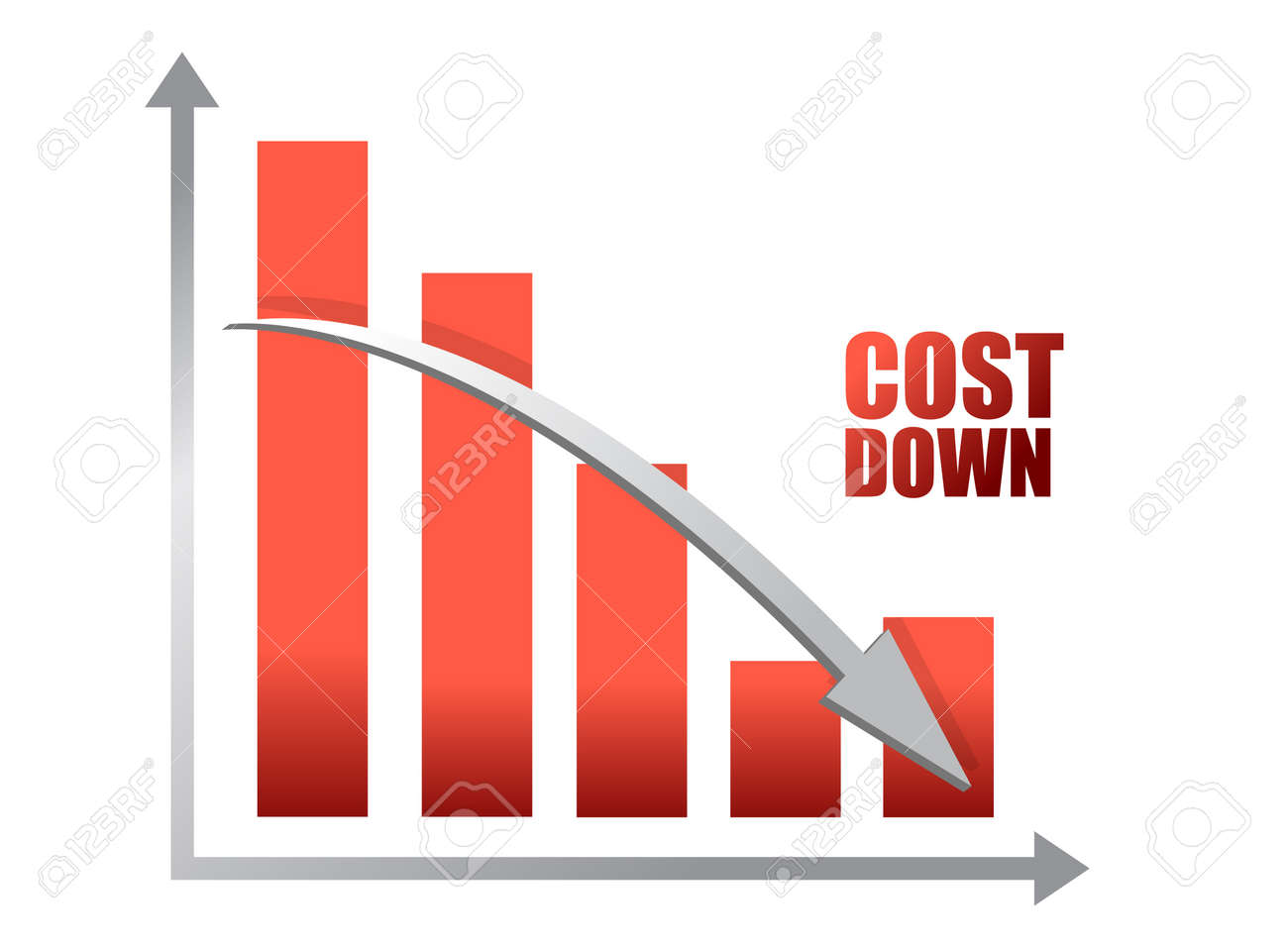 Chalk drawing - Cost down chart illustration design Stock Vector - 12496350