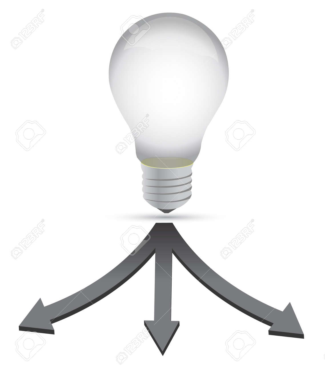 ideal destination lightbulb concept illustration over white Standard-Bild - 12784739