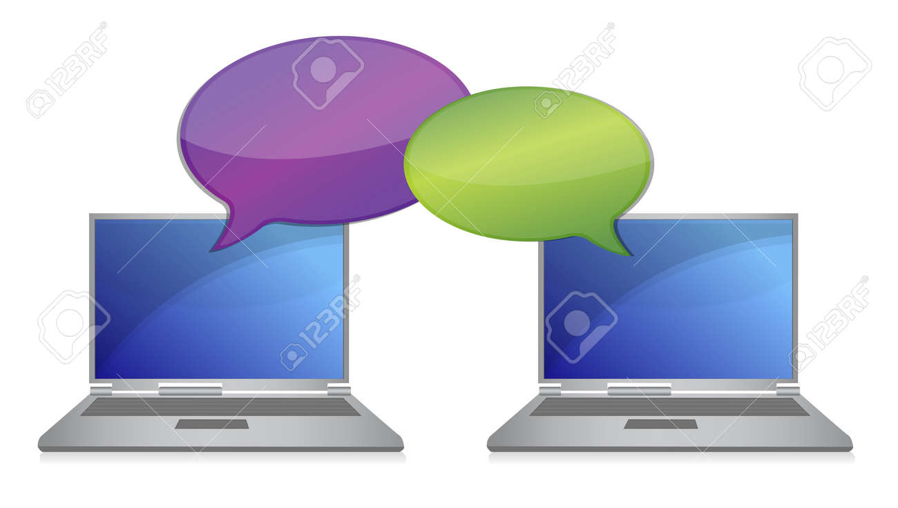 laptop communication Connection concept illustration design Stock Vector - 13261102