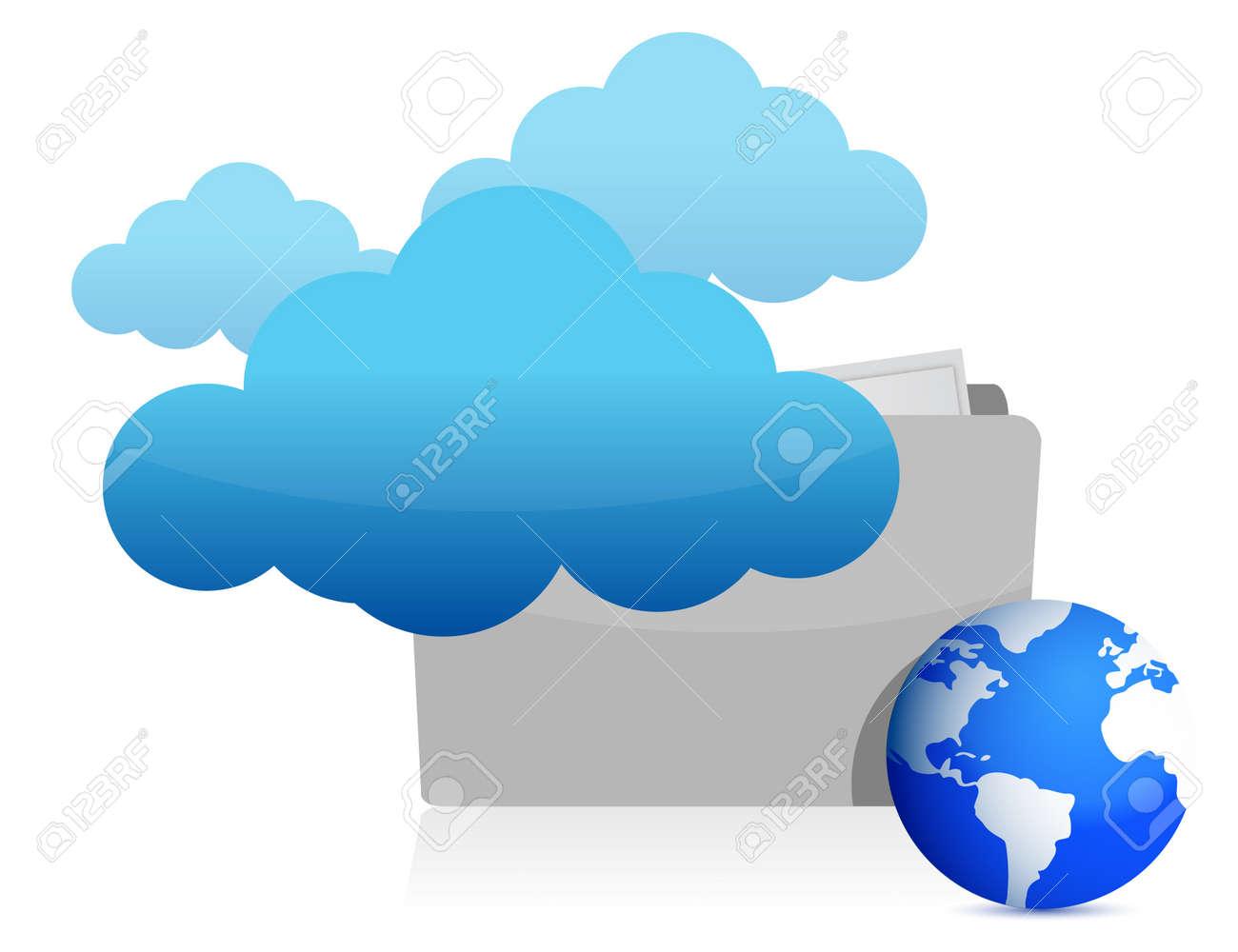 cloud computing information concept illustration design Stock Vector - 13678567