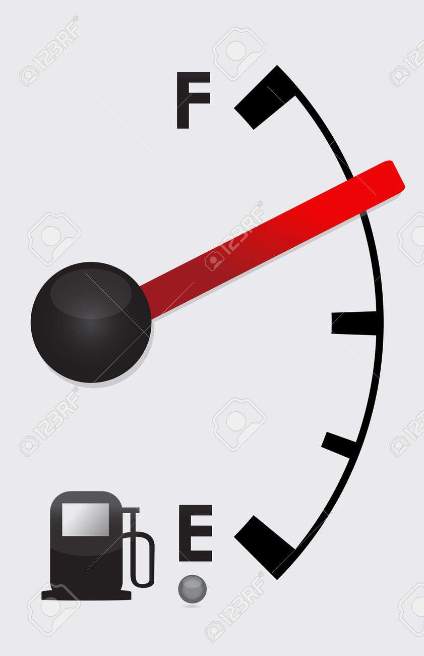Detailed Gas tank almost Full -  illustration design Stock Vector - 13678575