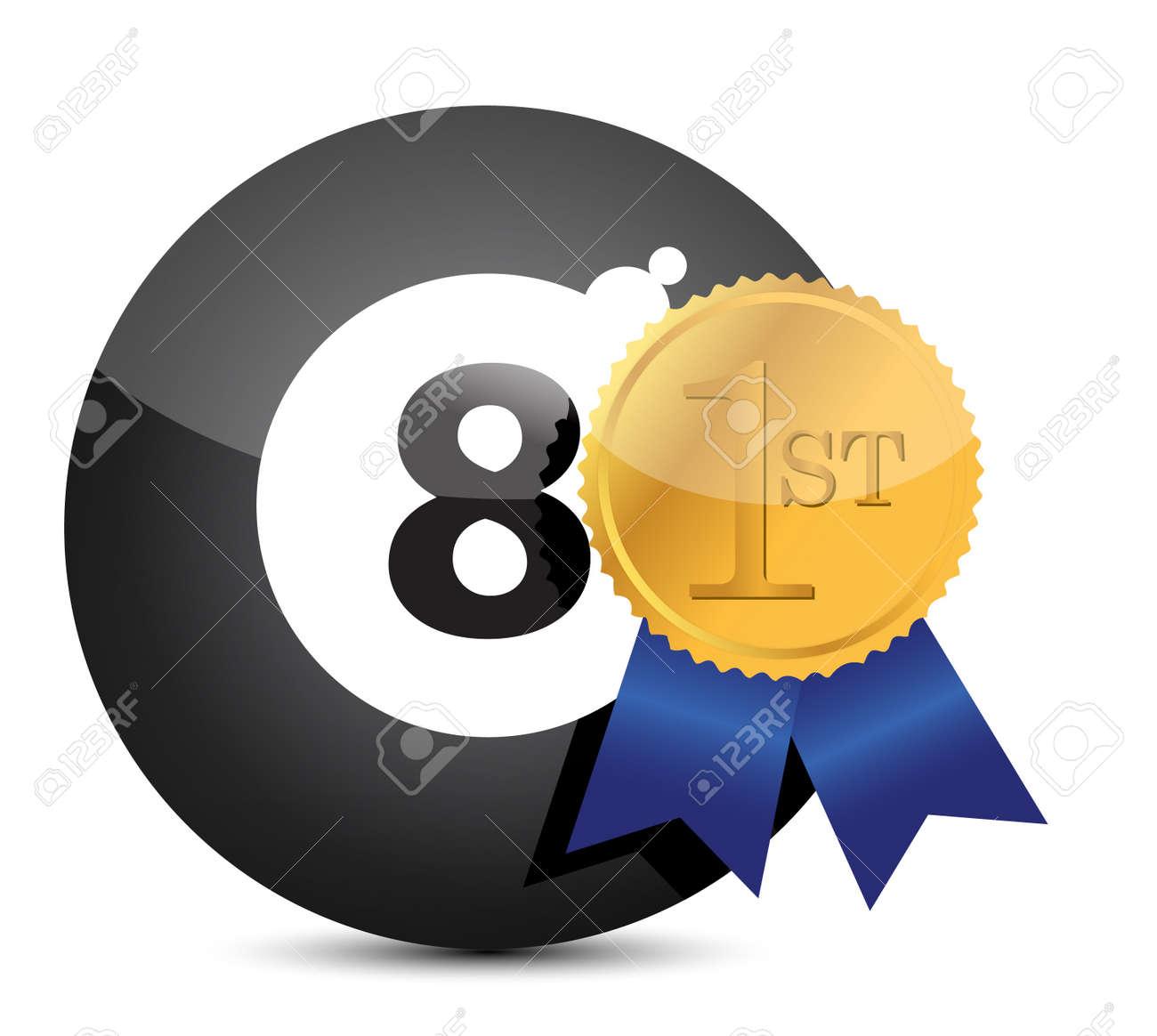 Award winning eight ball illustration design Stock Vector - 13896886