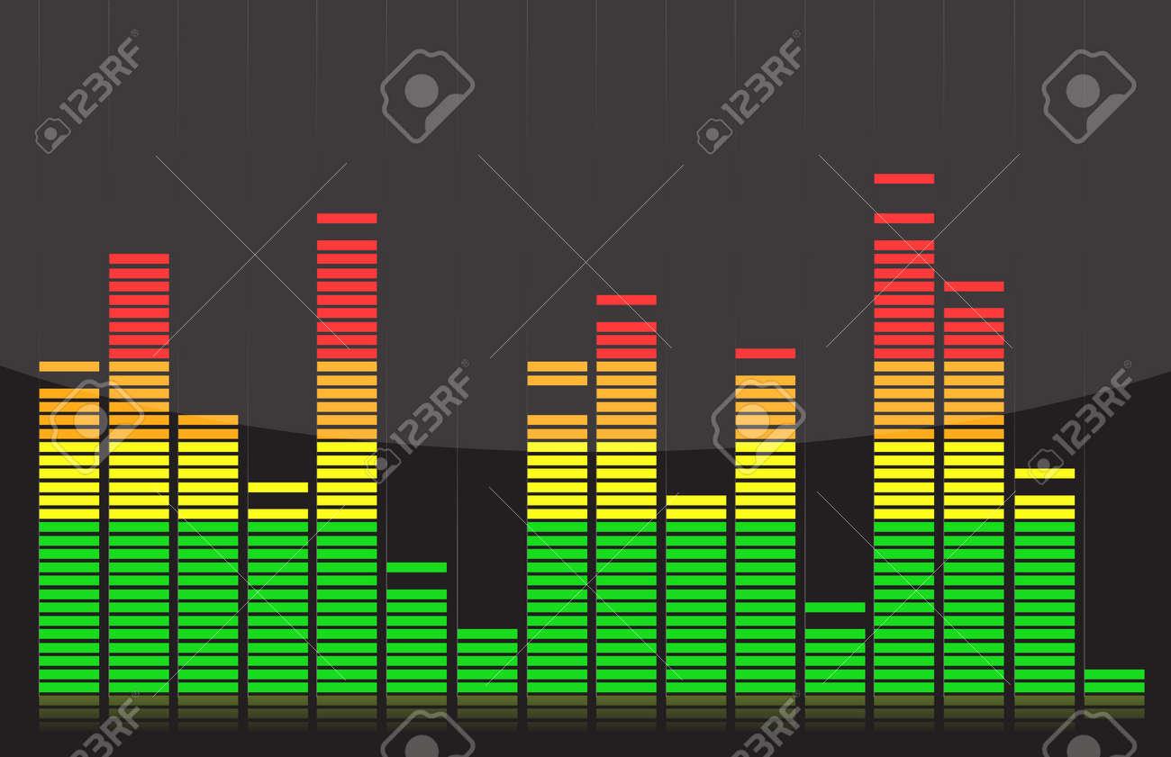 Equalizer lights colorful design illustration over back Stock Vector - 13990812