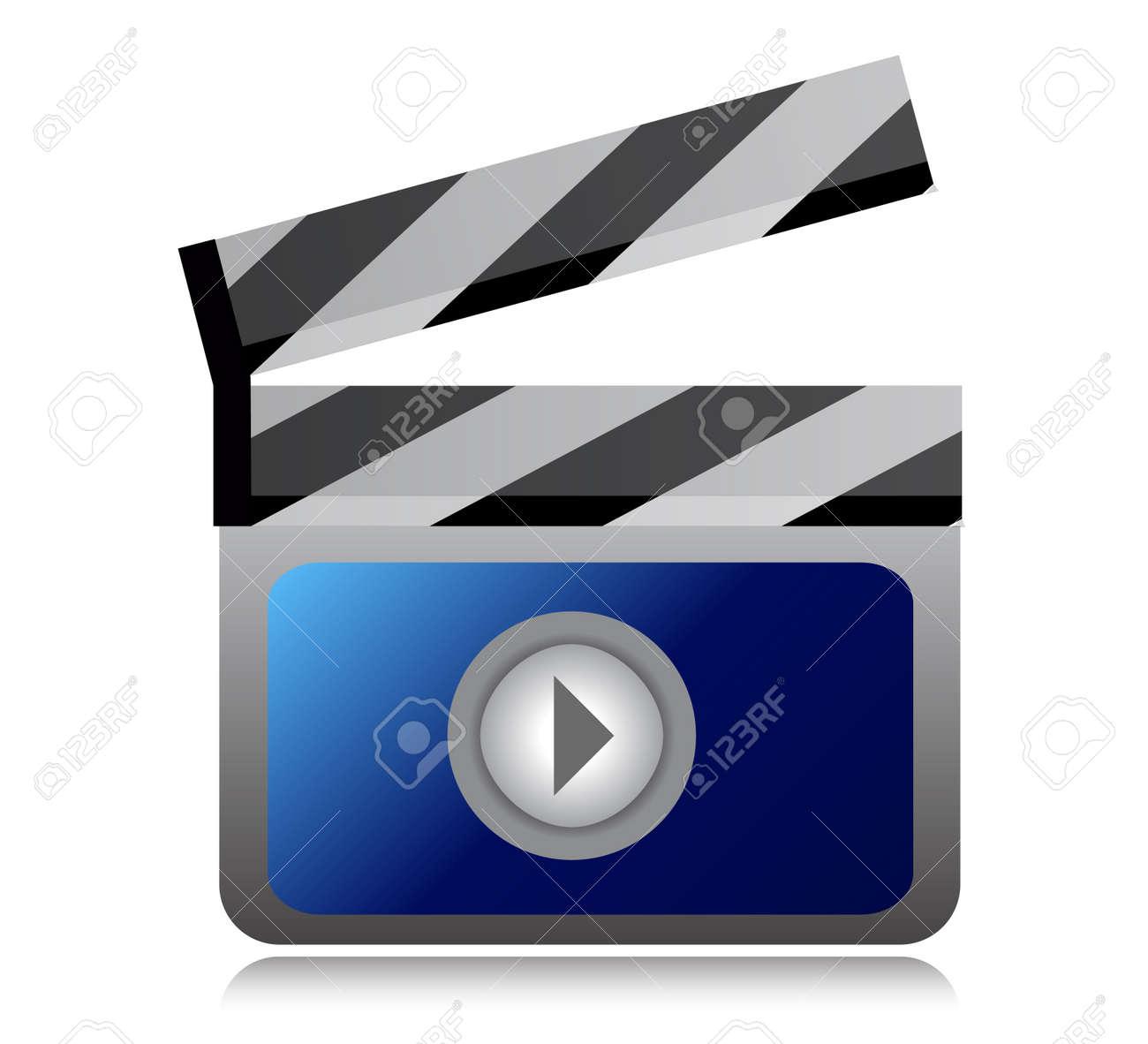 video movie clipper illustration design over a  white background Stock Vector - 15113512