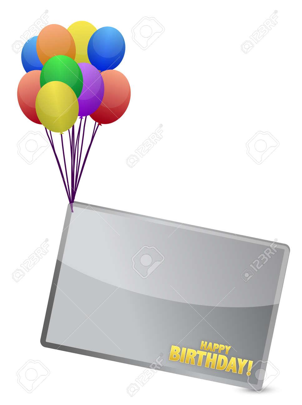 Birthday balloon banner illustration design over white Stock Vector - 15237005