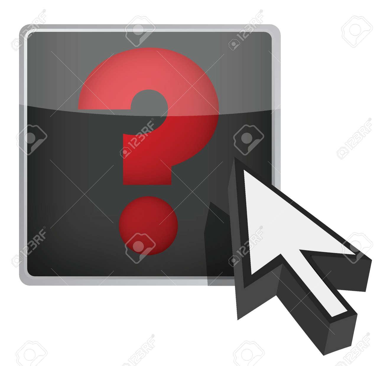 question mark and cursor illustration design over white Stock Vector - 15291969