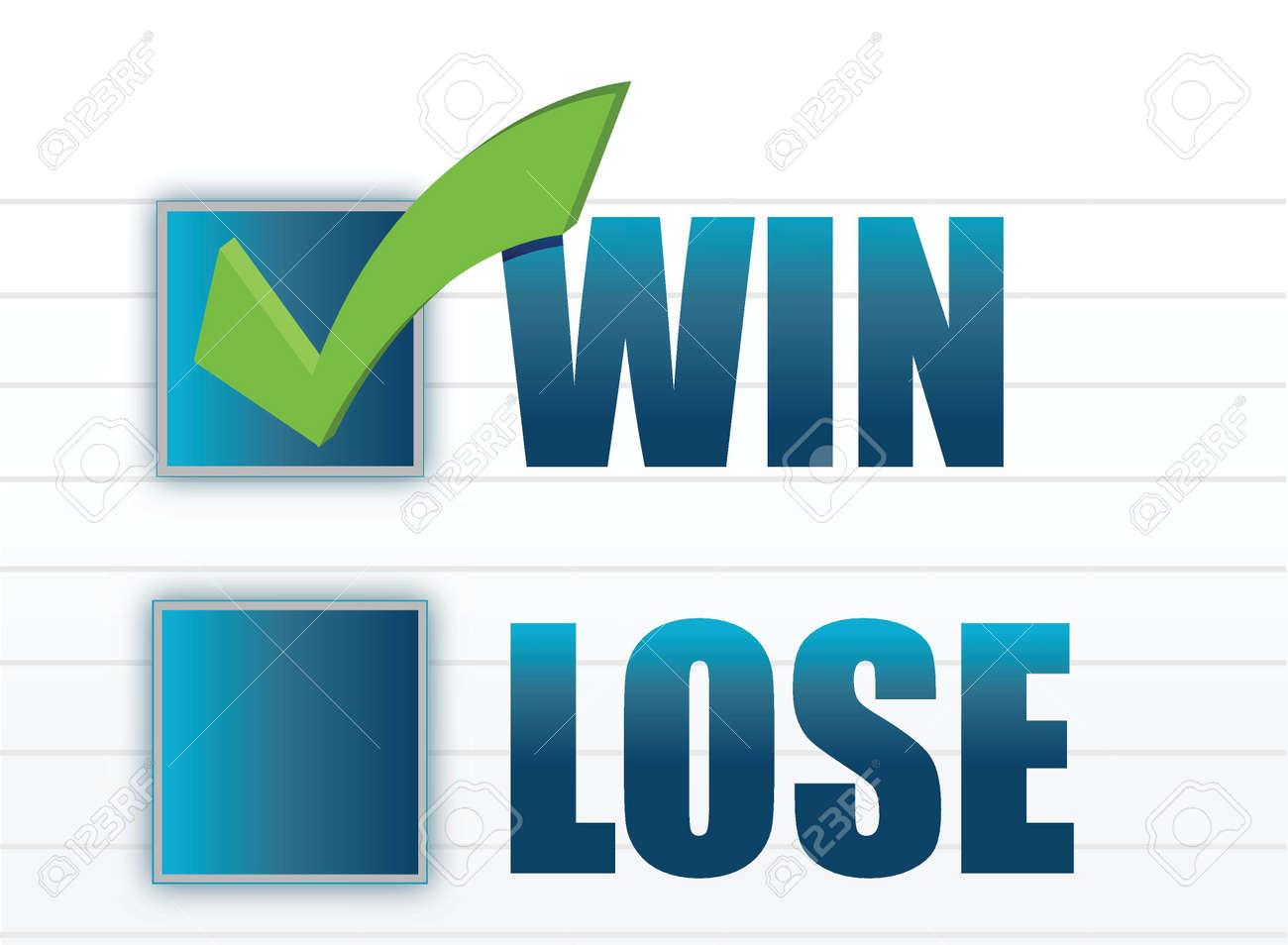 Win vs lose with checkmark illustration design Stock Vector - 15559785