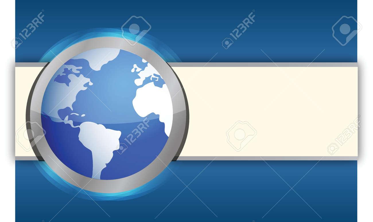 International blue business globe background illustration design Stock Vector - 15629495