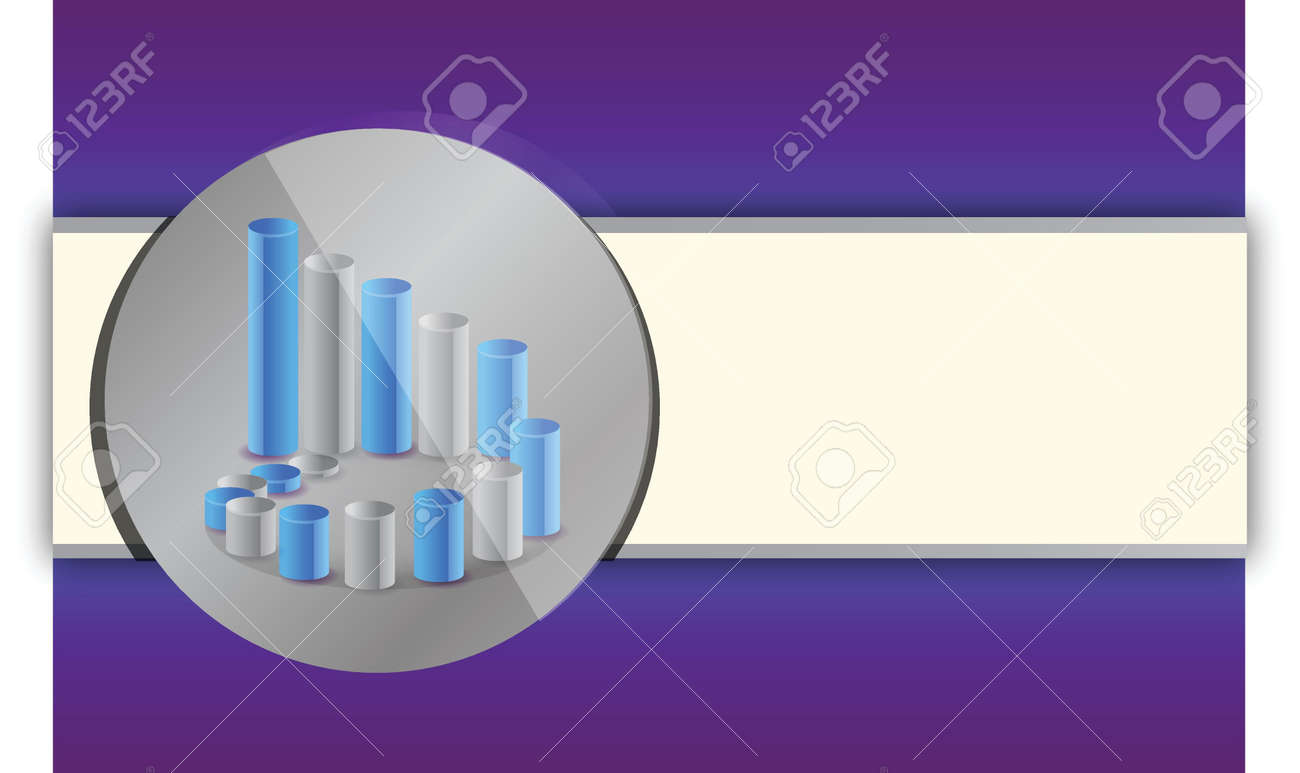 purple and blue chart business illustration background design Stock Vector - 15629446