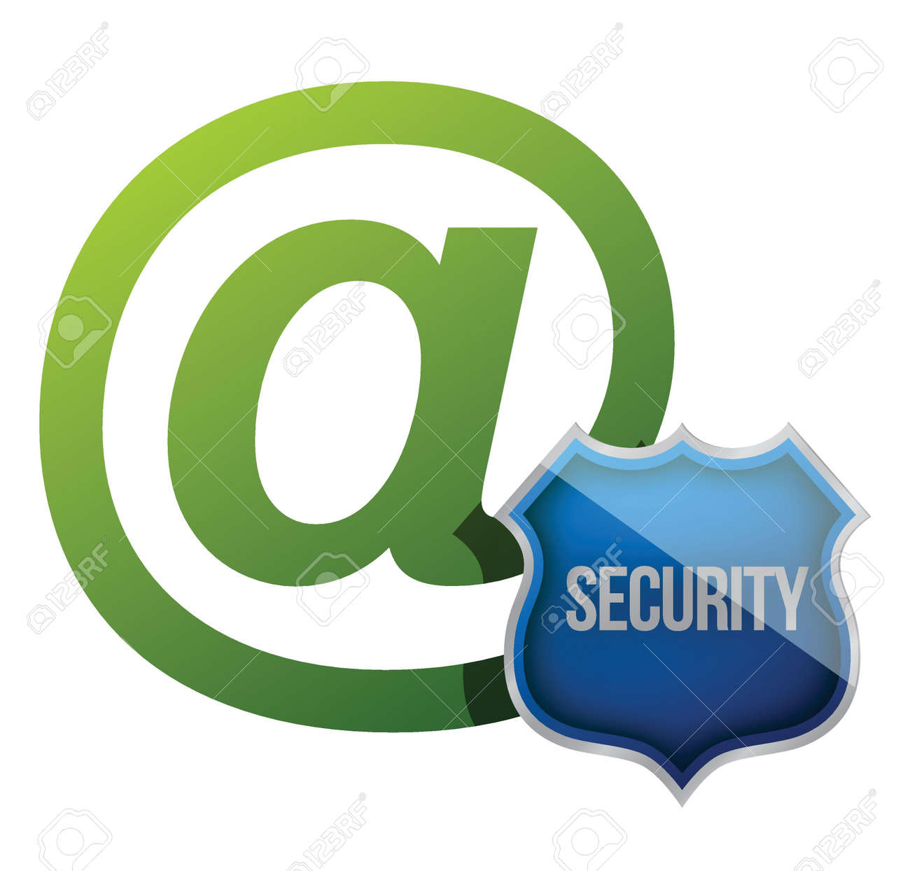Internet communication security shield illustration design over white Stock Vector - 15809673